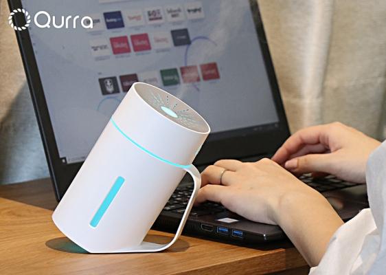 USB充電式 タンブラー型卓上加湿器