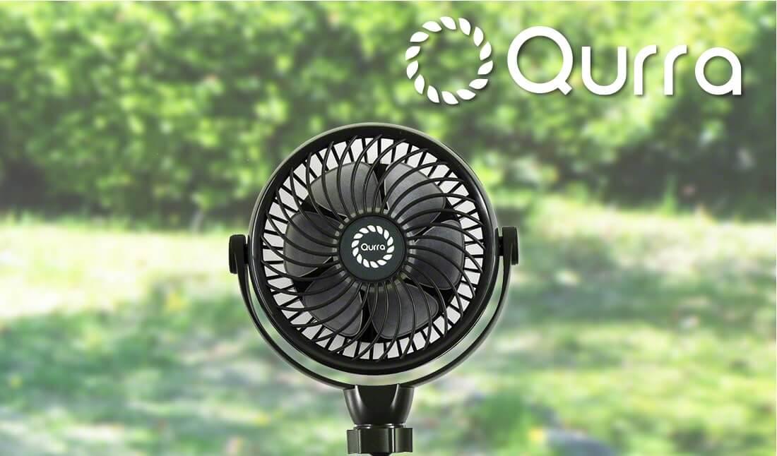 Qurra 3脚くねくね扇風機 Anemo Flex O